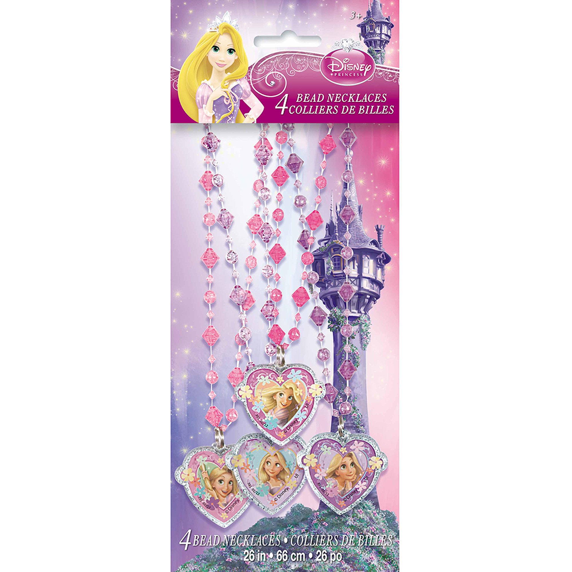 Disney Tangled Bead Necklace Party Favors, 4ct