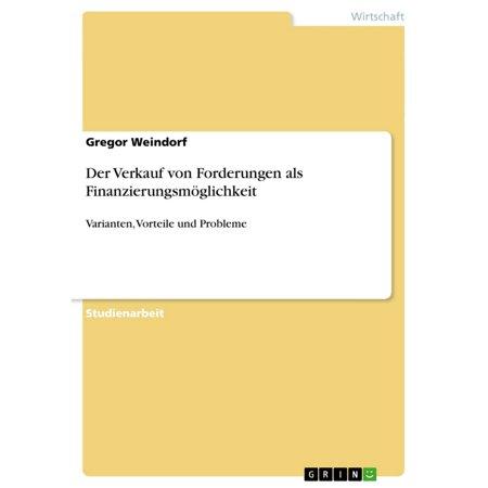 Der Verkauf von Forderungen als Finanzierungsmöglichkeit - eBook (Verkauf Nz Online)