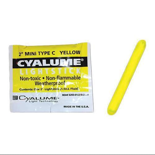 CYALUME TECHNOLOGIES 9-28690PF Lightstick,Yellow,4 hr.,2 in. L,PK50 by CHEMLIGHT BY CYALUME TECHNOLOGIES