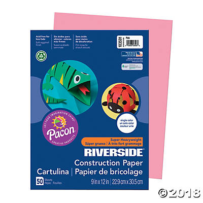 Pacon® Riverside® Construction Paper - Pink(pack of 1)