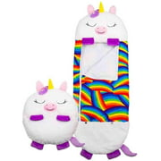 Large Happy Nappers Play Pillow and Sleeping Bag, Fun One Piece Children's Pajamas Sleeping Bags, for Kids Surprise (White)