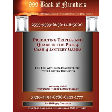 Predicting Triples And Quads In The Pick 4 Cash 4 Lottery Games  For Use With Non Computerized State Drawings