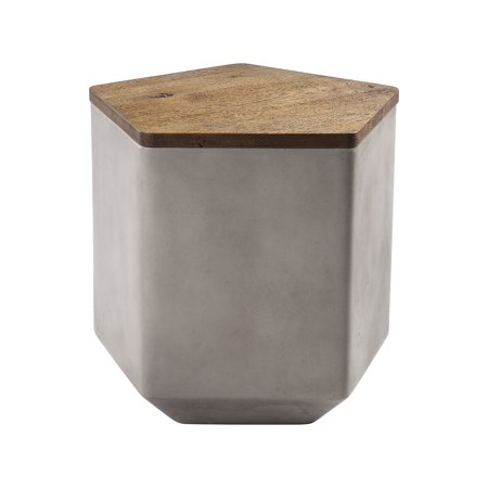 Tay Storage Bench in Nut Oak and Polished Concrete with (Tay Online Store)
