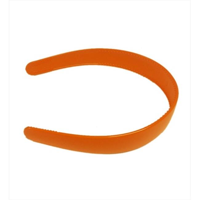 CoverYourHair 28174 Orange Classic 2 Inch Plastic Hard Headband