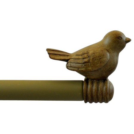 "Urbanest 3/4"" Bird Adjustable Curtain Rod, Cottage, 28""-48"""