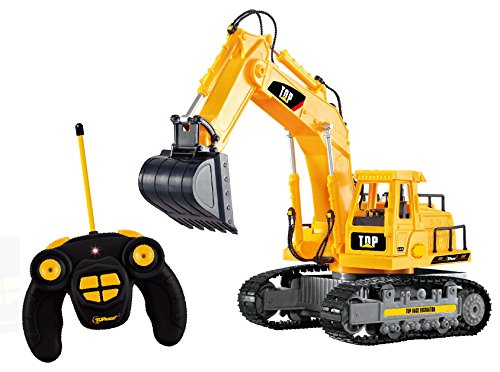 Top Race 7 Channel Full Functional RC Excavator, Battery Powered Electric RC Remote... by