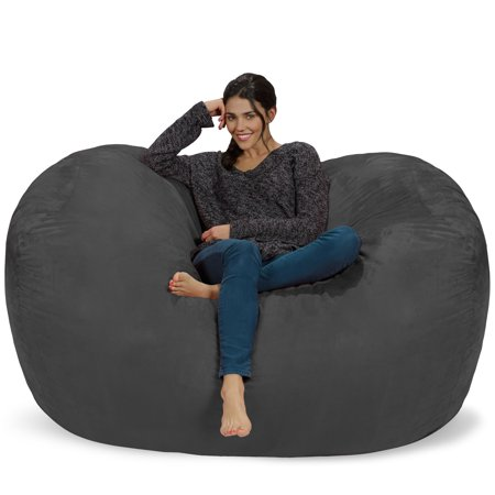 Chill Sack 6 ft Large Bean Bag Lounger, Multiple Colors/Fabrics