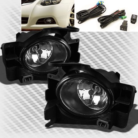 - 2008-2012 Altima 2 Door Bumper Fog Lights Lamp+Switch+Bulbs+Harness Set Pair 2009 2010 2011 Pair Left+Right