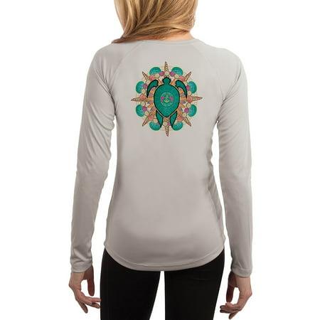 Turtle Shells Women's UPF 50+ UV/Sun Protection Long Sleeve T-Shirt