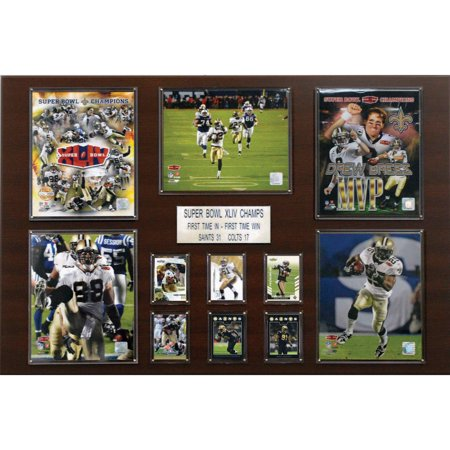 C&I Collectables NFL 24x36 New Orleans Saints Super Bowl XLIV Champions Plaque by