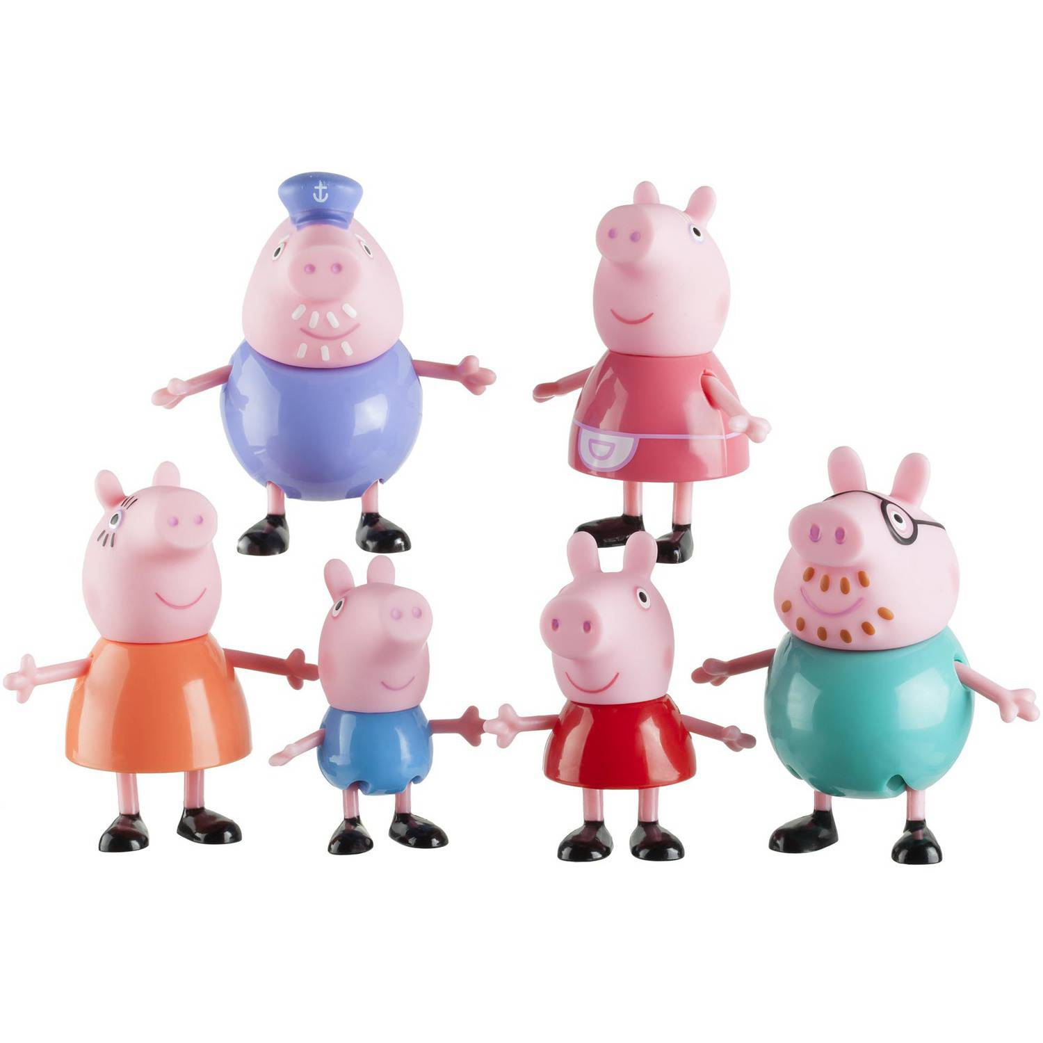 Peppa Pig Family Figures, 6-Pack
