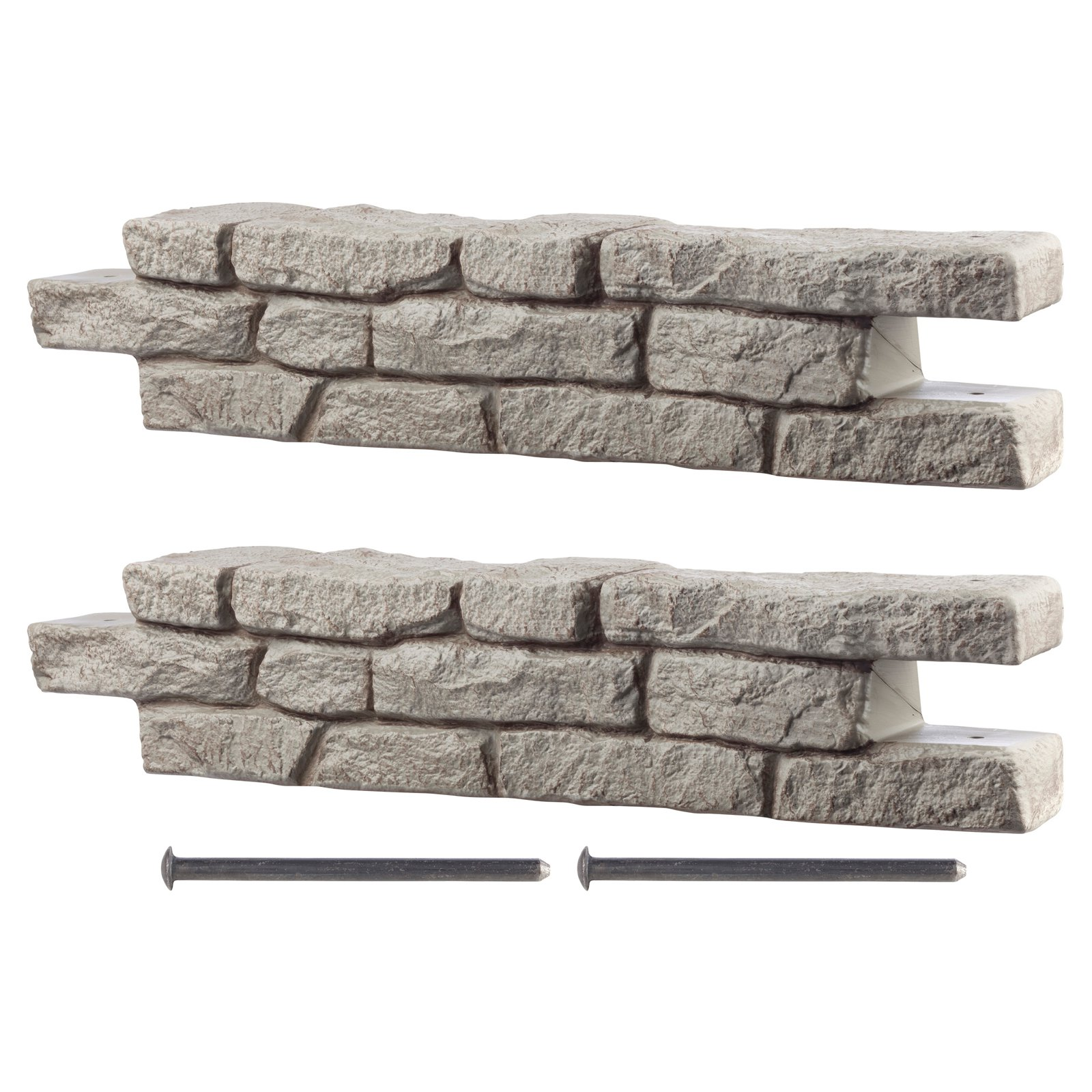RTS Home Accents Straight Rock Lock Residential Landscaping - Set of 2