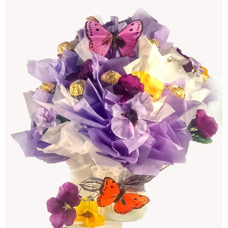 Flowers and Butterflies Ferreo Rocher Chocolate Candy Bouquet](Flowers And Candy)