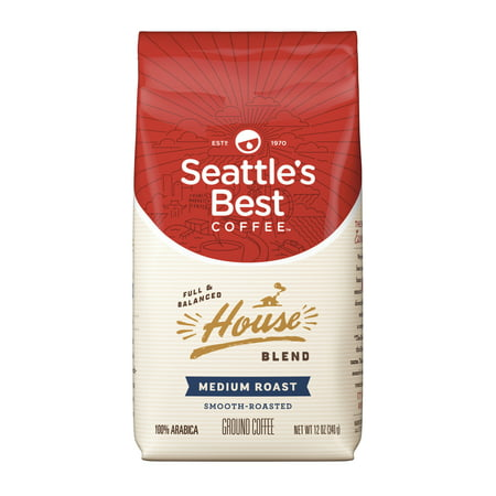 Seattle's Best Coffee House Blend Medium Roast Ground Coffee, 12-Ounce (Best Coffee Houses In The World)