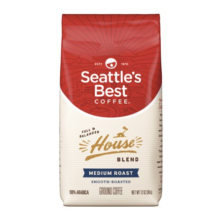 Seattle's Best Coffee House Blend Medium Roast Ground Coffee, 12-Ounce