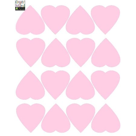 Heart Wall Decals ~Vinyl Kids Room Stickers (Soft (Heart Wall Stickers)