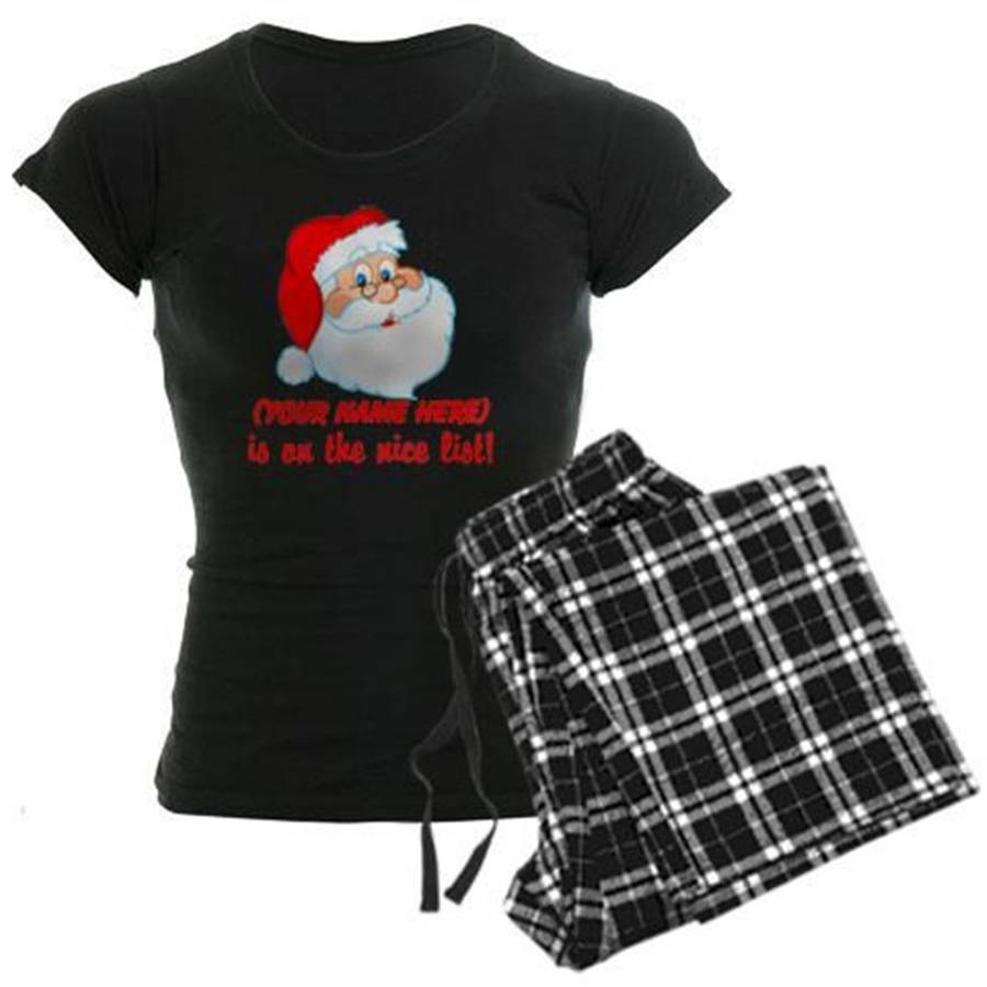 Cafepress Personalized You're On The Nice List Women's Dark Pajamas