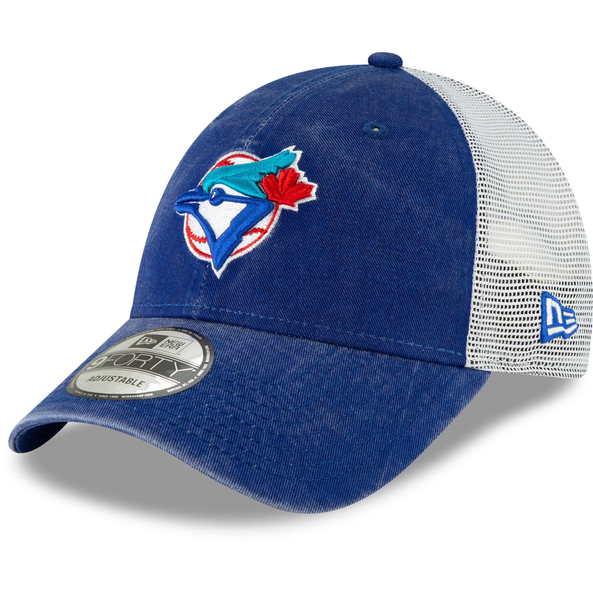 Toronto Blue Jays New Era 1977 Cooperstown Collection Trucker 9FORTY Adjustable Snapback Hat - Royal - OSFA