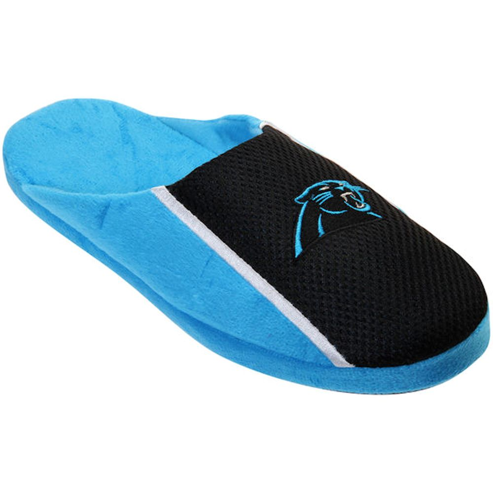 Carolina Panthers Men's Jersey Slide Slippers by Forever Collectible