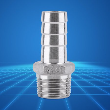 LHCER Stainless Steel SS304 Male Thread Pipe Fitting Barb Hose Tail Co