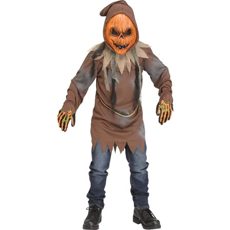 Male Pumpkin Costume (Halloween Boy's Light Up E.L. Pumpkin)