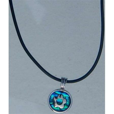 Flower Blue Paua Shell Necklace - image 1 de 1