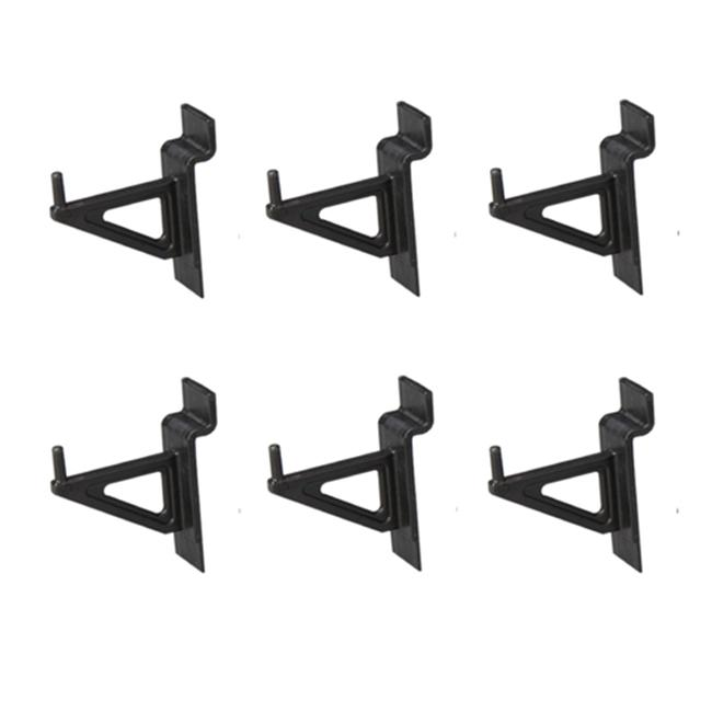 Jifram Extrusions 01100635 Easy Living Easy Wall Bag of Six 2 in. Black Plastic Slatwall Hooks