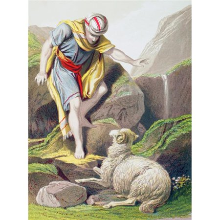The Parable of The Lost Sheep From The Holy Bible Published By William Collins, Sons, & Company In 1869 Chromolithograph By J.M. Kronheim & Co Poster Print, 24 x 34 - Large - Parable Of Lost Sheep