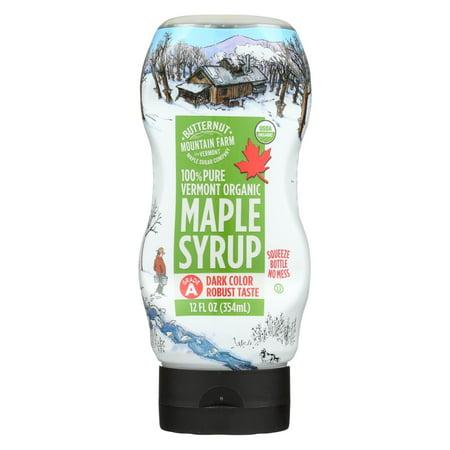 Butternut Mountain Farm - Maple Syrup - Organic Grade A Dark - Pack of 12 - 12 fl oz. (Butternut Mountain Farm)