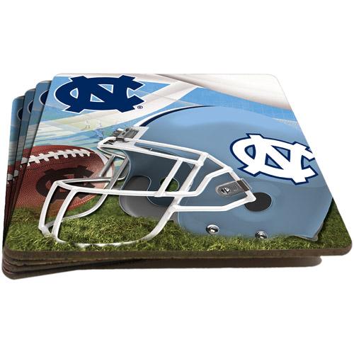 NCAA North Carolina Tar Heels 4-Pack Cork Coaster Set