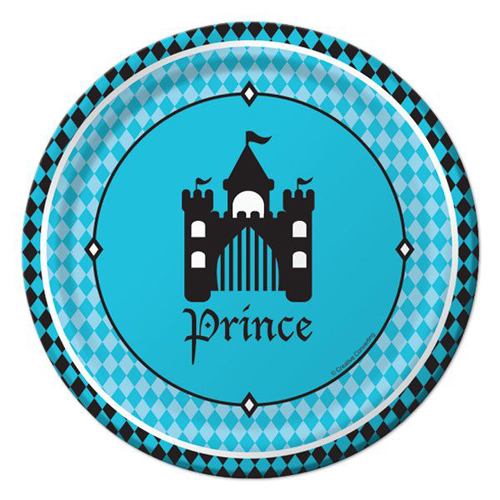 1st Birthday 'Royal Prince' Small Paper Plates (8ct)