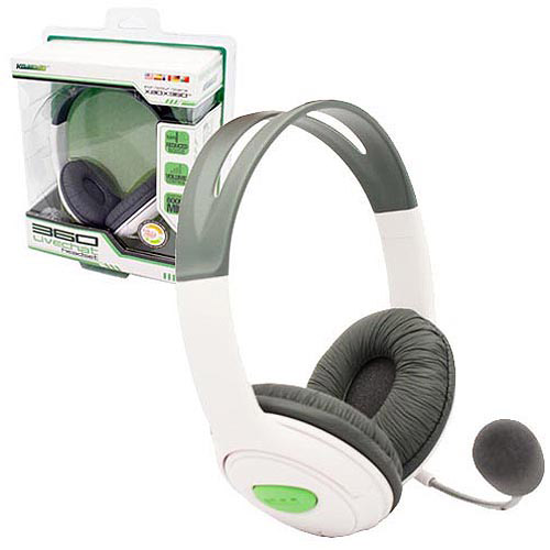 KMD - Pro Gamer Headset with Mic Large for Xbox 360 - White