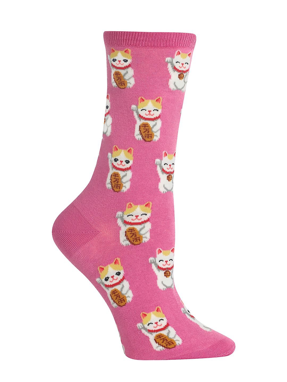Lucky Cat Graphic Socks