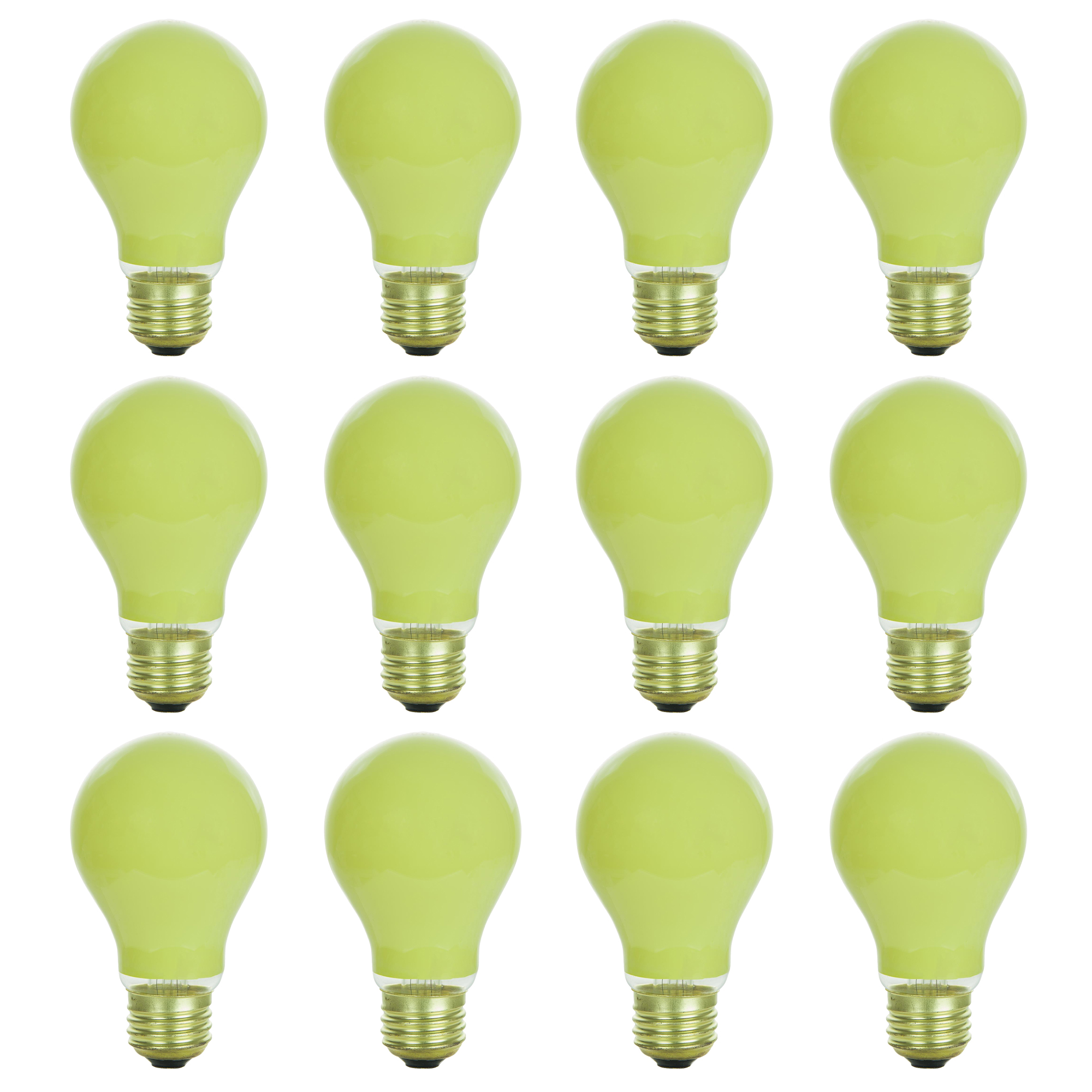 12 Pack of Sunlite 25 watt Ceramic Yellow Colored Incandescent Light Bulb - Parties, Decorative, and Holiday 1,250 Average Life Hours