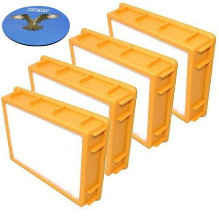 Eureka Boss Smart Vac Parts - HQRP HEPA Filter 4-Pack for Eureka Boss SmartVac 4870 4870MZ 4870SZ 4870T 4870SZX 4870D 4870RZ 4870GZX 4870HZ 4870HZ-1 4870HZX 4870J 4870J-1 4870K 4870KE Upright Vac Vacuum Cleaner + HQRP Coaster