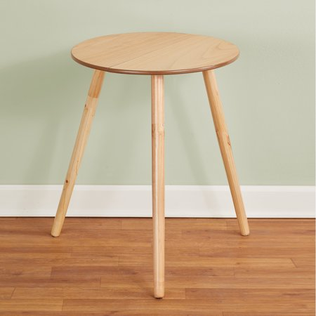 "Wooden Round Side Accent Table, 20"" Diameter x 25.5"" Height – Sturdy Classic Three-Legged Round Side Table for Use in Bedroom, Living Room or"