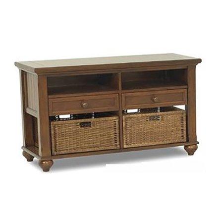 Klaussner Treasures Brown Sofa Media Table (Klaussner Hybrid)