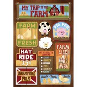 Farm Cardstock Stickers 5.5 Inch X 9 Inch-My Trip To The Farm