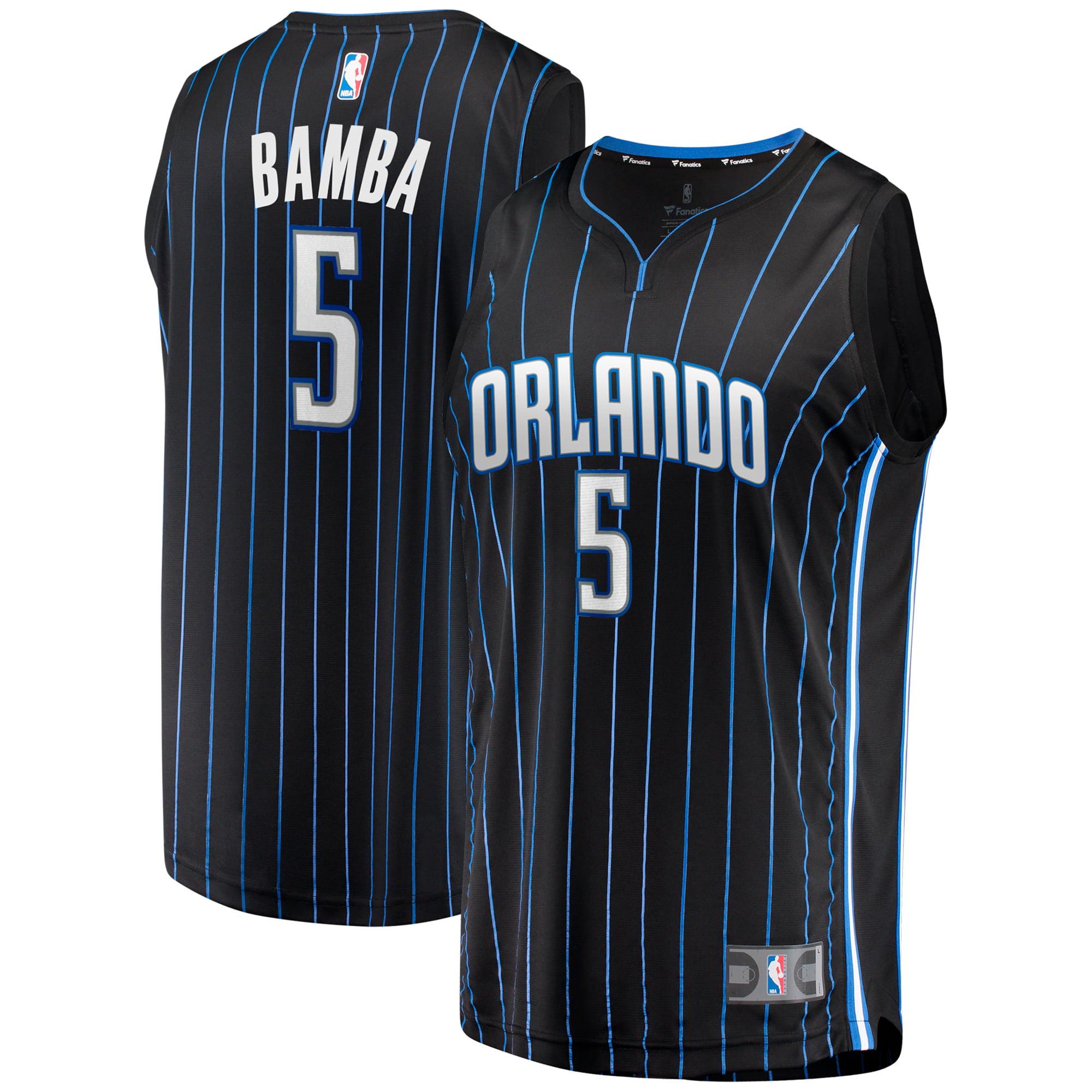 Mohamed Bamba Orlando Magic Fanatics Branded Fast Break Replica Player Jersey - Statement Edition - Black