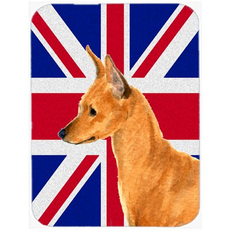 Min Pin with English Union Jack British Flag Mouse Pad, Hot Pad or Trivet SS4908MP