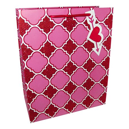 Paper Craft Large Valentine Heart and Arrow Gift Bag, 1 piece-12