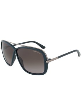 7cf54c4551e Product Image Tom Ford FT0455 S 96P BRENDA Teal Square Sunglasses