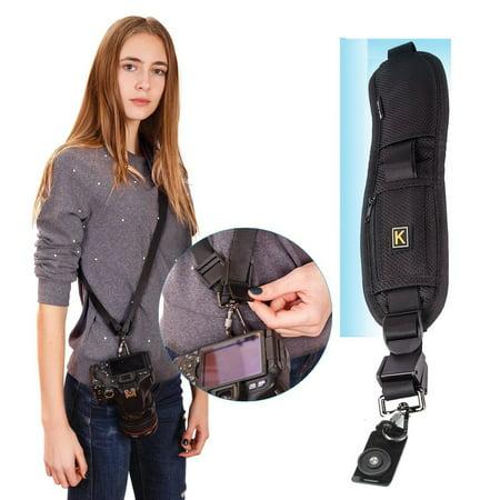 Quick Sling Camera Single Shoulder Belt Adjustable Shockproof Nylon Strap for Canon for Sony for Nikon SLR DSLR Cameras - image 2 of 7
