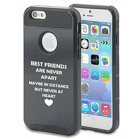 Apple iPhone 6 Plus 6s Plus Shockproof Impact Hard Soft Case Cover Best Friends Long Distance Love