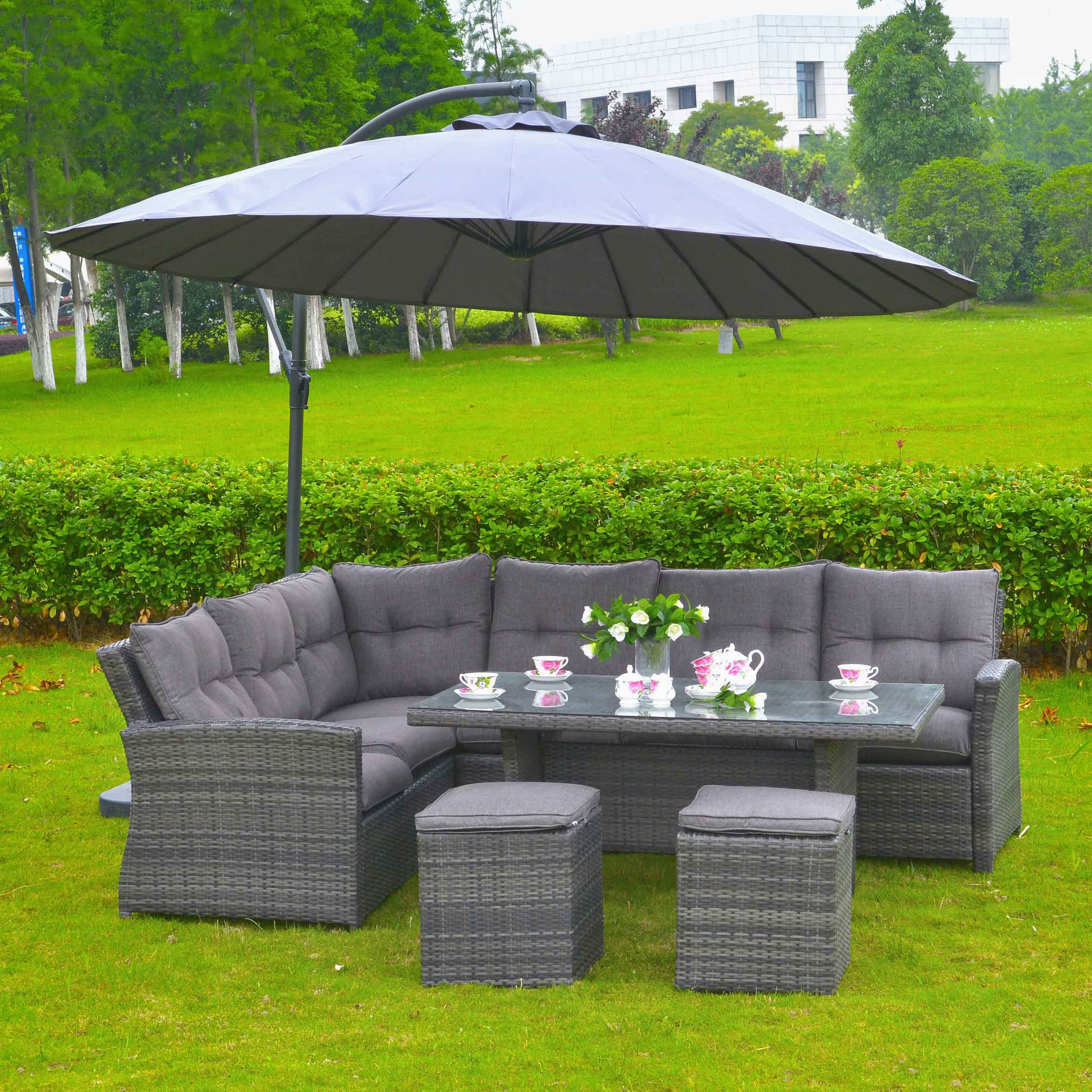 Mano Leisure Lima Wicker Rattan Patio Dining Room Set by Overstock