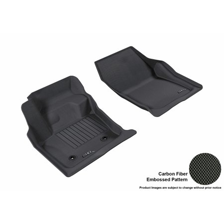 Black Ford Fusion (3D MAXpider 2013-2016 Ford Fusion Front Row All Weather Floor Liners in Black with Carbon Fiber Look)