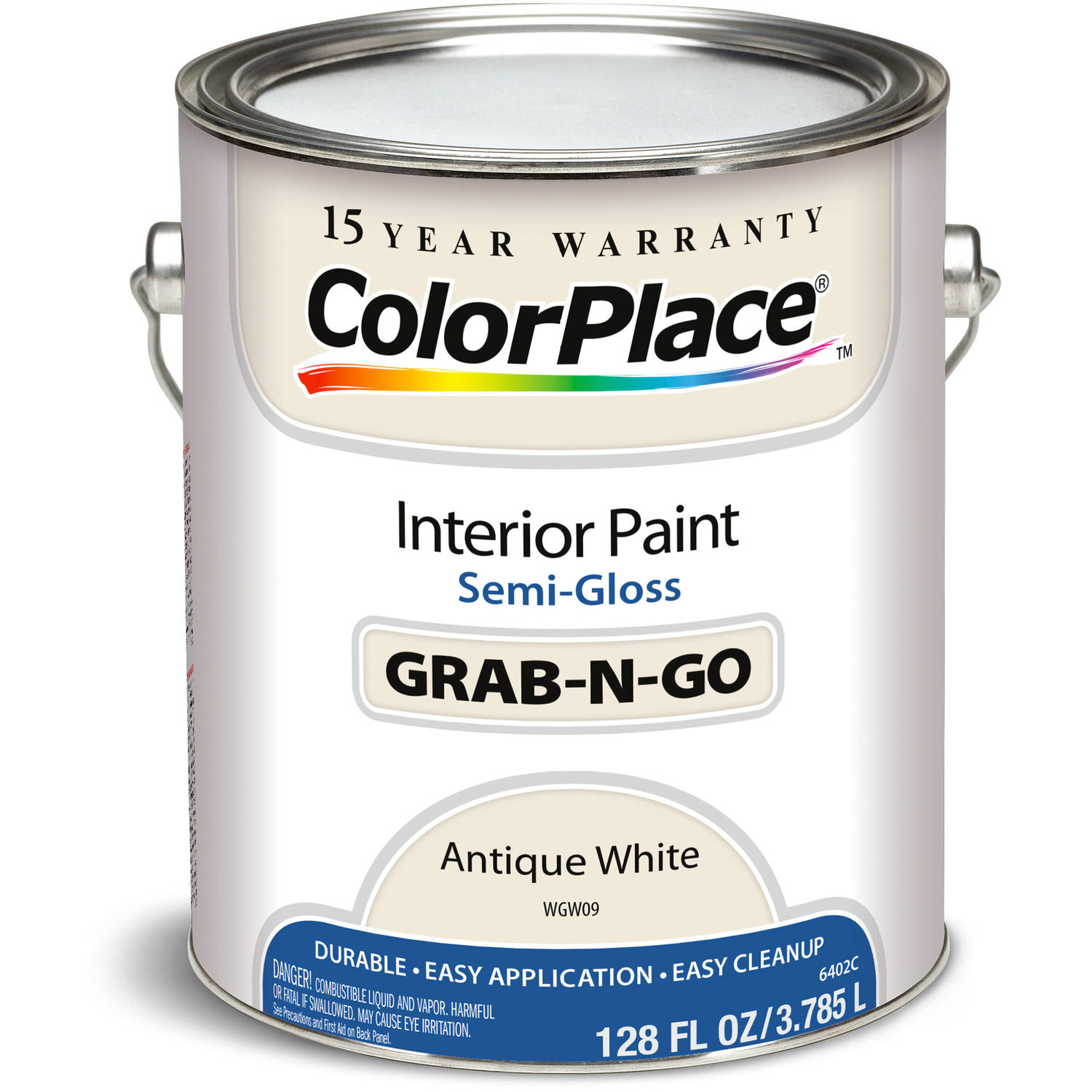 Colorplace Antique White Semi Gloss Interior Paint, 1-Gallon ...
