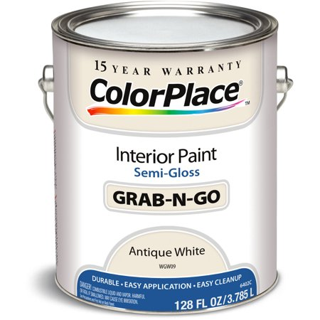 colorplace antique white semi gloss interior paint 1 gallon. Black Bedroom Furniture Sets. Home Design Ideas