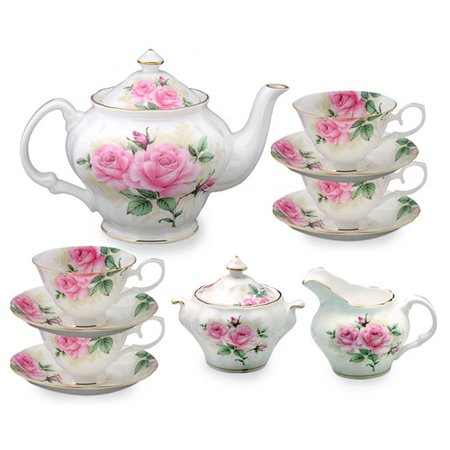Grace's Tea Ware 11 pièces en porcelaine Rose Bouquet à thé