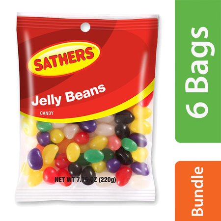 (6 Pack) Sathers, Jelly Beans, 7.75 Oz (Jelly Bean Poem)
